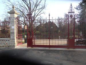 ASMR rénovation portail du jardin des plantes de Vitré